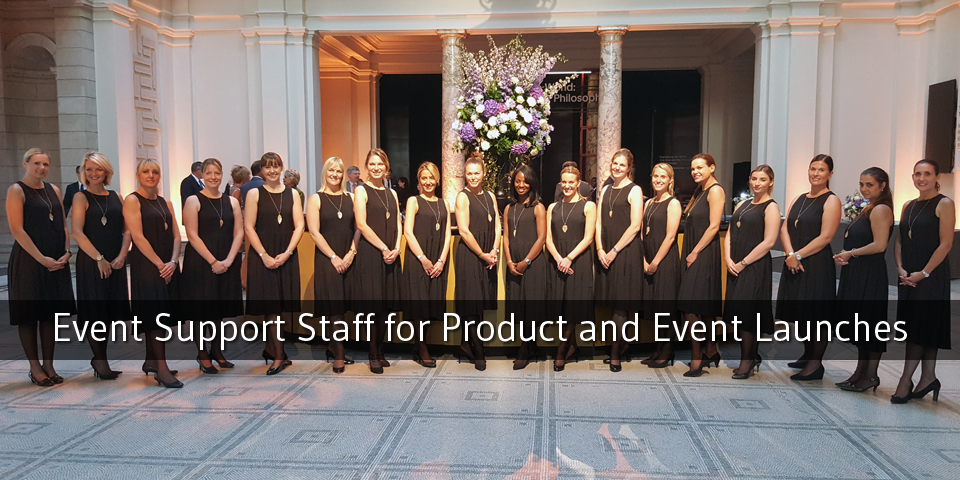 Image Hospitality: Our team working at the UTC Ball and the Victoria & Albert Museum